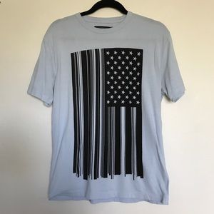 French Connection Light Blue Flag T-Shirt Small